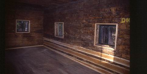 The inside of the cabin upon completion.