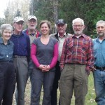 (fm left) Sue Port, Maurice de St Jorre, Bill Bryce, Candice Mead, ranger Bruce Ferguson, Bert Port, Fred Thiessen