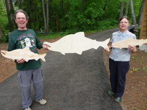 "Terry & Ursula with ""fish blanks""."