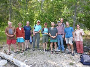 (frm left) Eric White, Emilee Fanjoy, Dave Smith, Maurice de St Jorre, Delia Roberts, Fred Thiessen, Eric Sargent, Roland Perrin, Ursula Lowrey (rear) Terry Lowrey